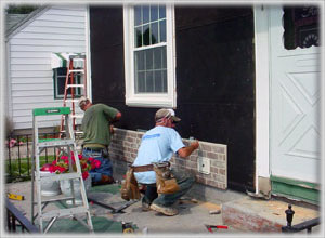 Installation of Brick Panel Siding