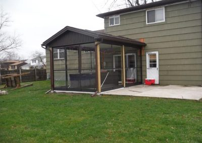 Finished Sunroom - Completed enclosure for hot tub