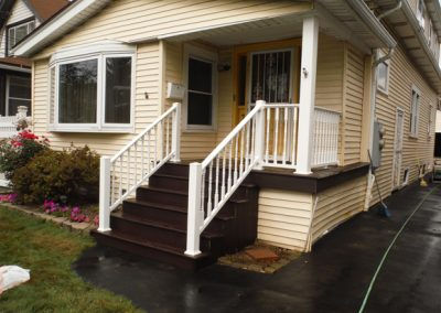 New Porch with Composite Decking and Vinyl Railings