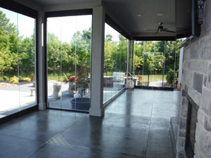 Installation of Lumon Patio Glass