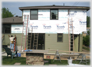 Before Siding and Roof Construction