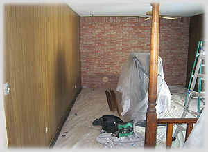 Before - Family Room with Paneling