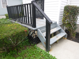 Porch Repair - Before