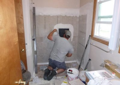 Handicap Access Shower - In Progress