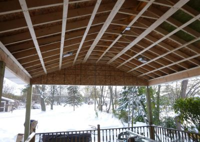 Framed Porch Roof Inside Ceiling